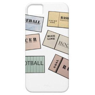 Trozos de boleto iPhone 5 carcasa