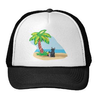trpoical scottie trucker hat