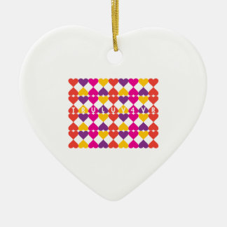 Tru Luv 4vr Double-Sided Heart Ceramic Christmas Ornament