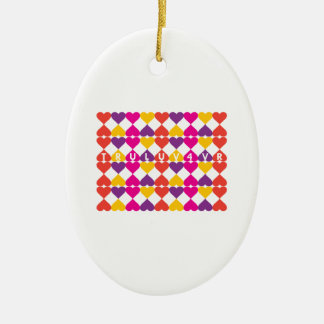 Tru Luv 4vr Double-Sided Oval Ceramic Christmas Ornament