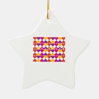 Tru Luv 4vr Double-Sided Star Ceramic Christmas Ornament