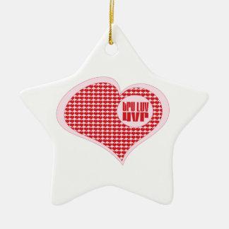 Tru Luv Uvr Double-Sided Star Ceramic Christmas Ornament