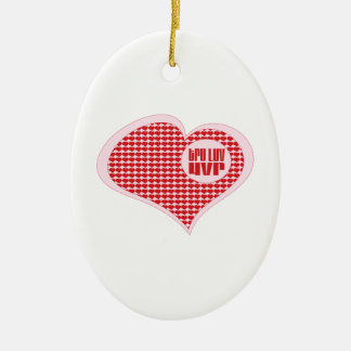 Tru Luv Uvr Double-Sided Oval Ceramic Christmas Ornament