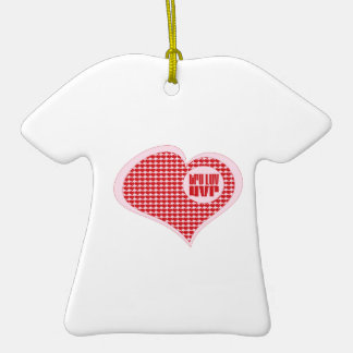 Tru Luv Uvr Double-Sided T-Shirt Ceramic Christmas Ornament