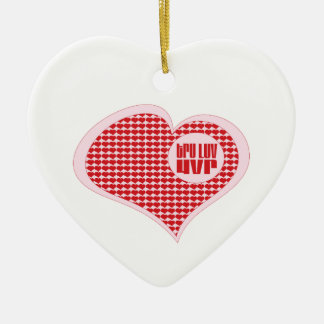 Tru Luv Uvr Double-Sided Heart Ceramic Christmas Ornament