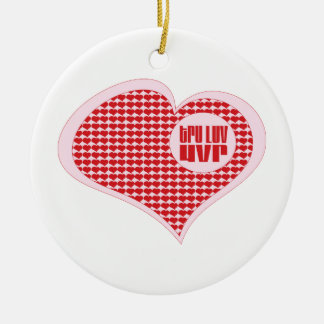 Tru Luv Uvr Double-Sided Ceramic Round Christmas Ornament