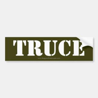 """""""Truce"""" bumper sticker"""
