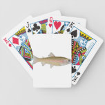 trucha arco iris barajas de cartas