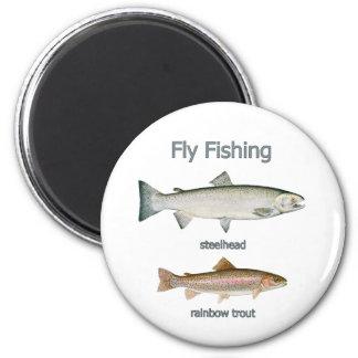 Trucha arco iris de la pesca con mosca - trucha ar imán redondo 5 cm