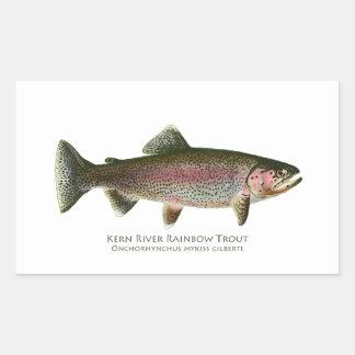 Trucha arco iris del río de Núcleo de condensación Pegatina