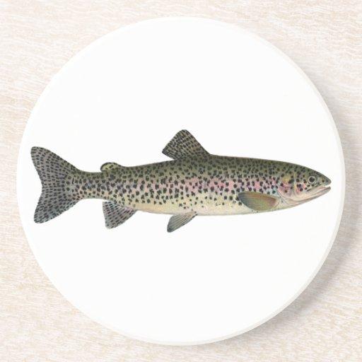 Trucha arco iris (Great Lakes) Posavasos Diseño