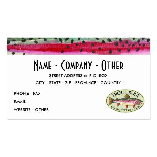 Trucha arco iris tarjetas de visita