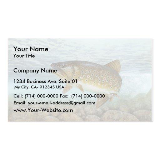 Trucha, arroyo tarjeta de visita