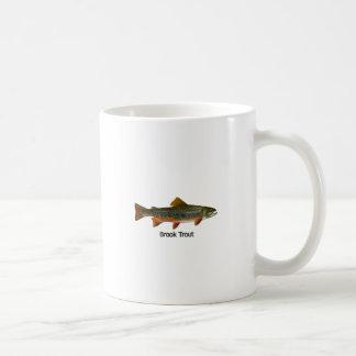 Trucha de arroyo (titulada) taza básica blanca