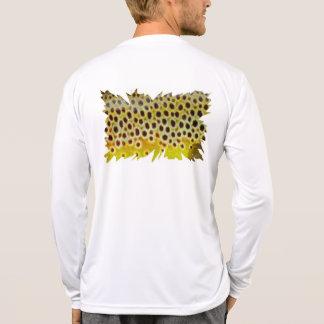 """""""Trucha de Brown"""" por la pesca con mosca de Camisetas"""