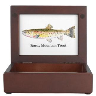 Trucha de la montaña rocosa caja de recuerdos