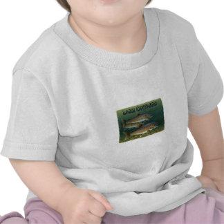 Trucha de lago lake Ontario Camisetas