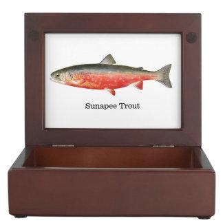 Trucha de Sunapee Cajas De Recuerdos