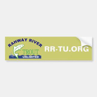 Trucha del río de Rahway ilimitada Pegatina De Parachoque