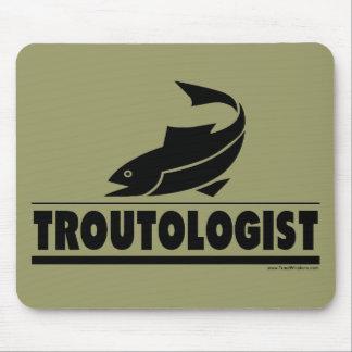 Trucha - ologist - pescados chistosos de la trucha alfombrillas de ratones