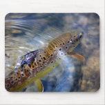 Trucha - pesca de Mousemat Alfombrilla De Ratones