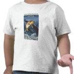 Trucha que pesca la sección representativa 5 camiseta