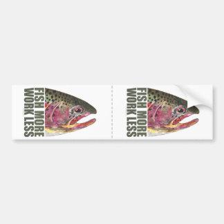 Trucha que pesca más etiqueta de parachoque