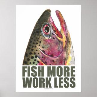 Trucha que pesca más póster
