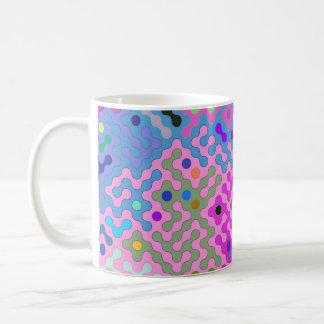 Truchet pattern 1 - pink violet coffee mug