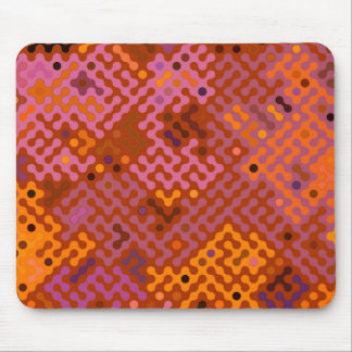 Truchet pattern 2 - earth colors mouse pad
