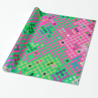 Truchet pattern 2 - green violet wrapping paper