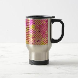 Truchet pattern 2 - yellow violet travel mug