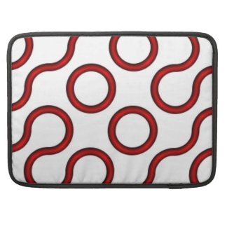 Truchet Red Sleeve For MacBook Pro
