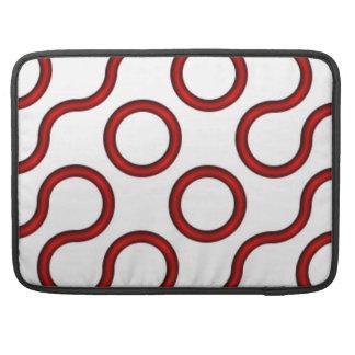 Truchet Red Sleeves For MacBooks