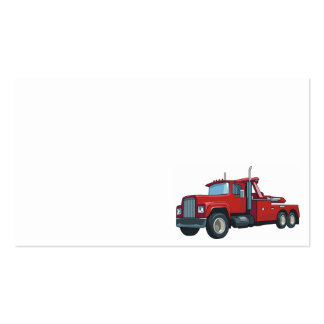 Truck0037 BIG RIG TRUCK RED TRANSPORTATION WORK Double-Sided Standard Business Cards (Pack Of 100)