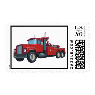 Truck0037 BIG RIG TRUCK RED TRANSPORTATION WORK Postage