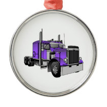 Truck 1 metal ornament