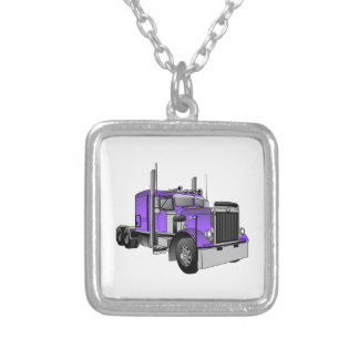 Truck 1 silver plated necklace