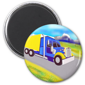 Truck 2 Inch Round Magnet
