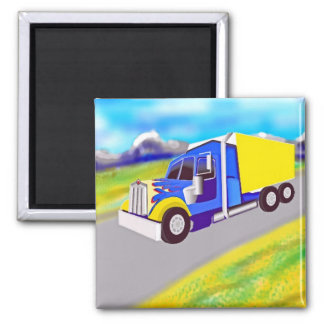 Truck 2 Inch Square Magnet