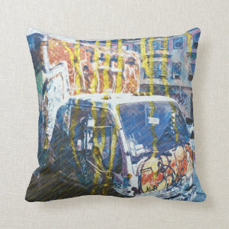 Truck-A-Licious Bang ( graffiti Love ) Throw Pillow