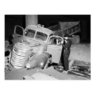 Truck Accident Los Angeles 1951 Vintage Postcards