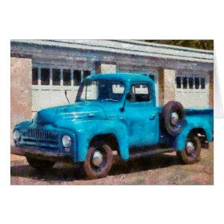 Truck - An International old truck Card