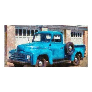 Truck - An International old truck Photo Card
