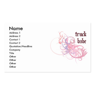 Truck Babe Double-Sided Standard Business Cards (Pack Of 100)