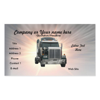 Truck Double-Sided Standard Business Cards (Pack Of 100)