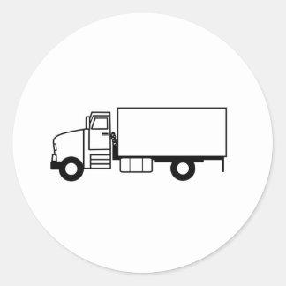 Truck Classic Round Sticker