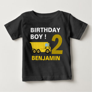 Truck Construction 2nd Birthday Party Baby T Shirt