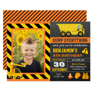 Construction Party Invitations Announcements Zazzle