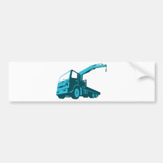 truck crane cartage hoist retro bumper sticker